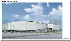 メインアリーナ外観横浜文化体育館再整備事業落札者提案