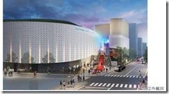 メインアリーナ外観その2横浜文化体育館再整備事業落札者提案