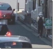 交差点から車侵入人がよける
